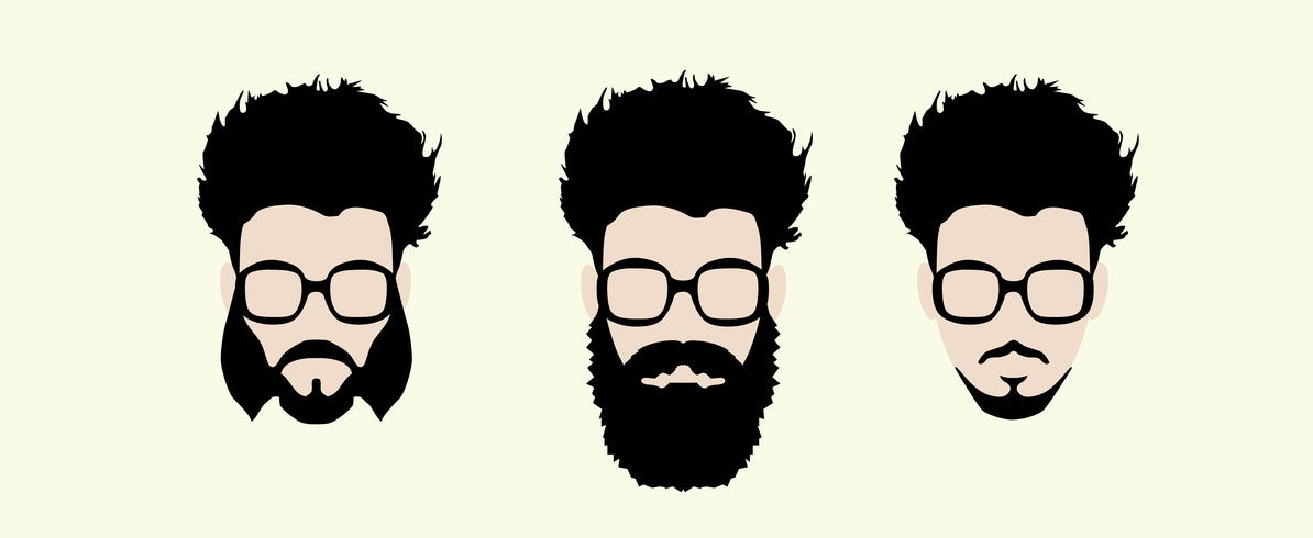 illustration types de barbe
