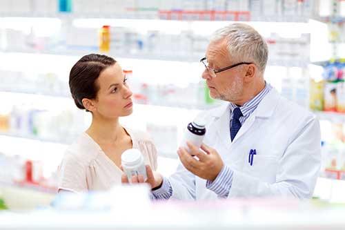 Dermocosmétique en pharmacie