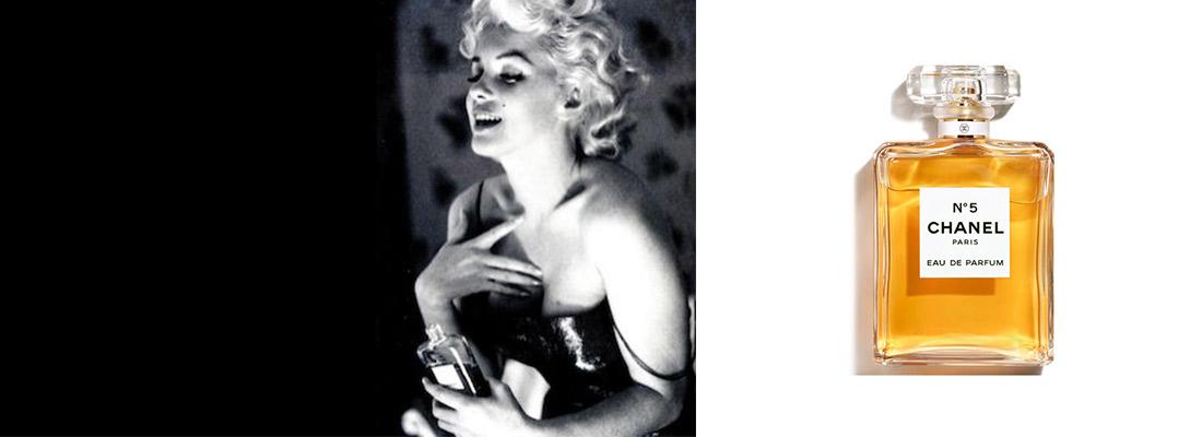 Chanel n°5 et Marilyn Monroe