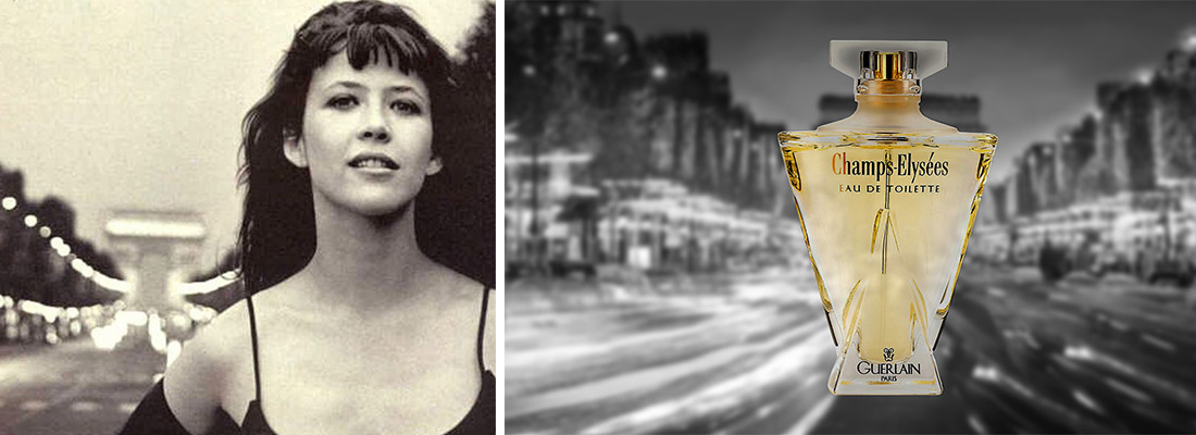 Champs-Elysées, publicité avec Sophie Marceau