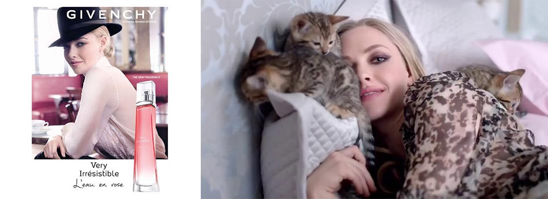 publicité, Irresisitible de Givenchy avec Amanda Seyfried